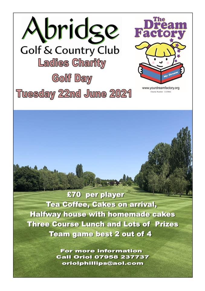 Abridge Golf Day June 2021